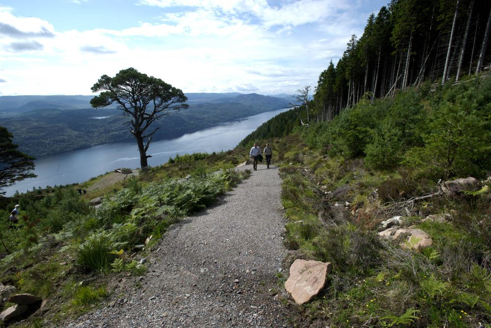 Great Glen Way High Route overlooking loch ness