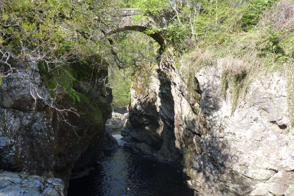 The historic bridge at Foyers on the South Loch Ness Trail