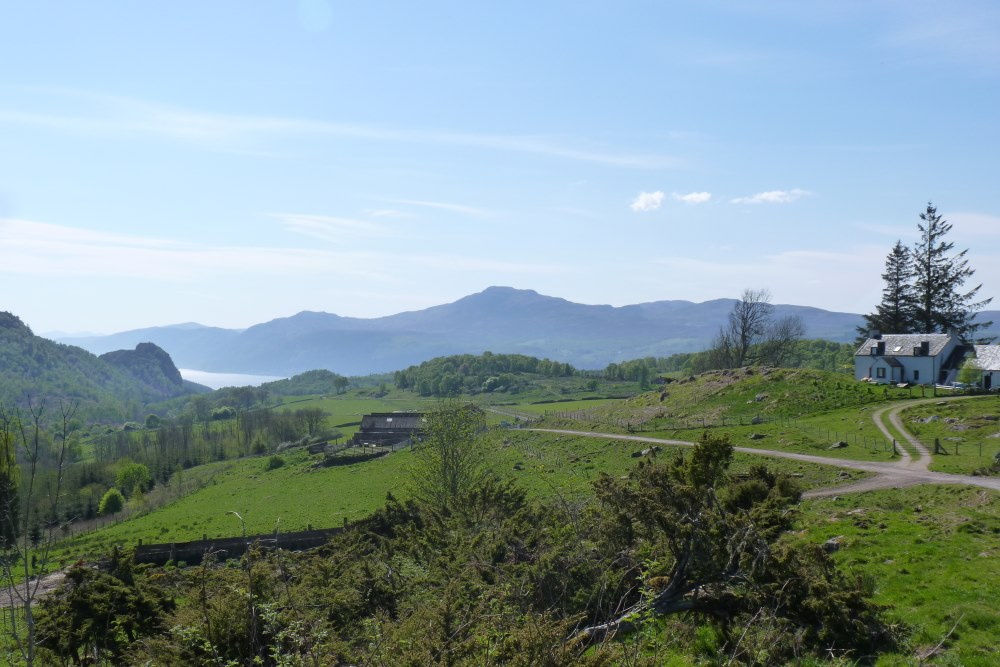 View of Loch Ness and mountains from the South Loch Ness Trail
