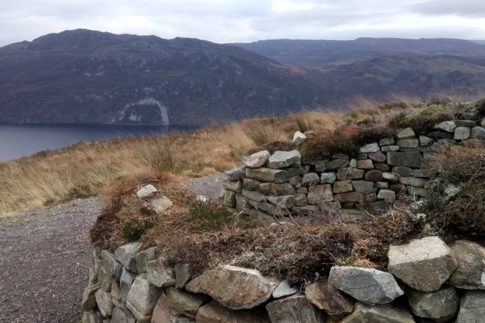 Viewpoint and picnic spot on the Great Glen Way overlooking Loch Ness