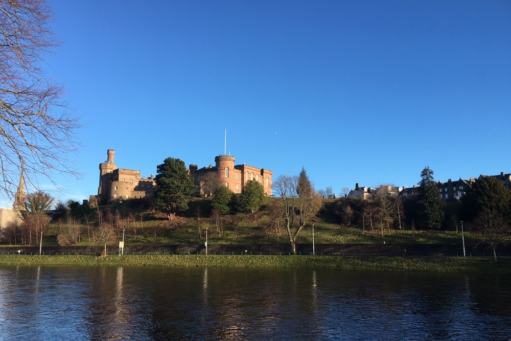 Inverness Castle on the River Ness in the Scottish Highlands