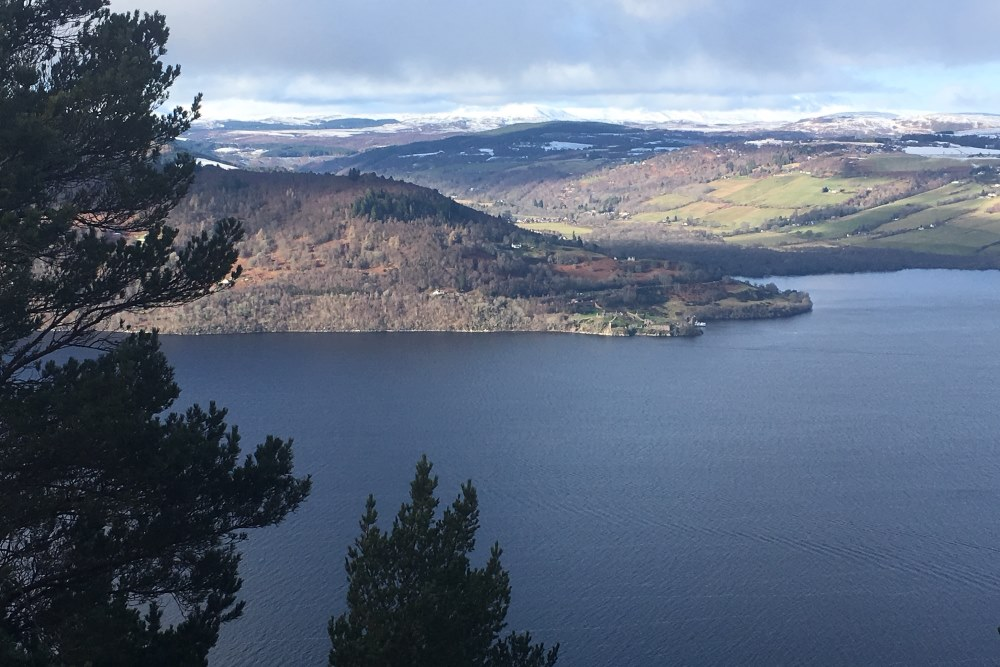 View over Loch Ness from the Fair Haired Lads Pass on the Great Glen Way