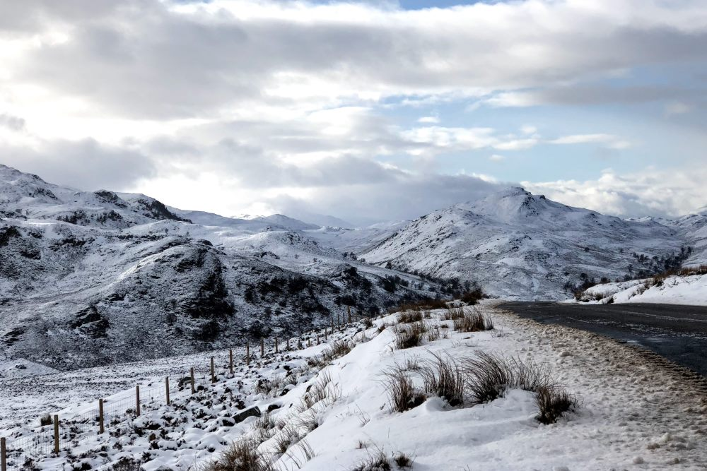 Winter view from Suidhe Viewpoint near the South Loch Ness Trail