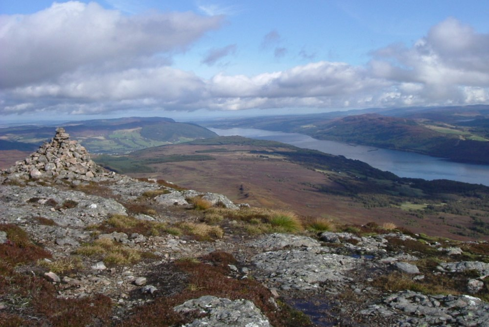 View of Loch Ness and the Great Glen from Meall Fuar Mhonaidh