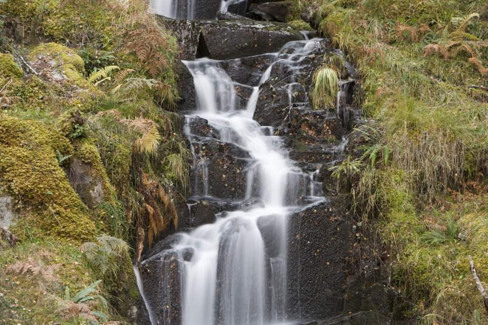 Waterfall on the Great Glen Way near Fort Augustus