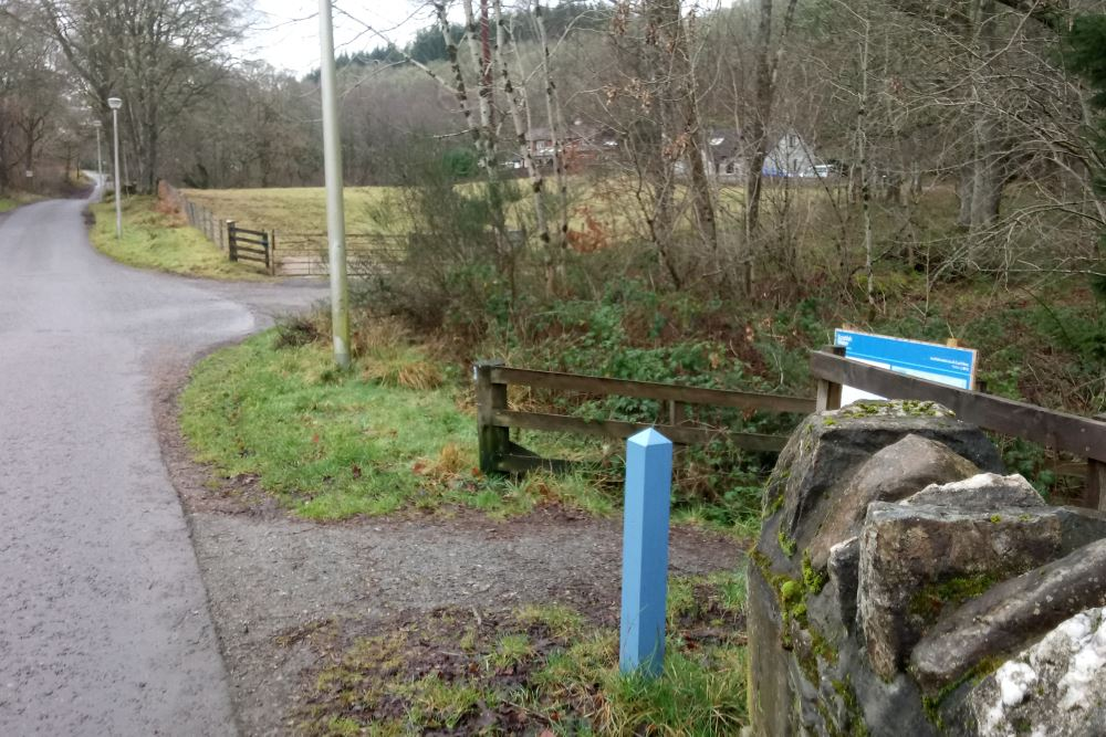 Signpost for the Great Glen Way in Fort Augustus