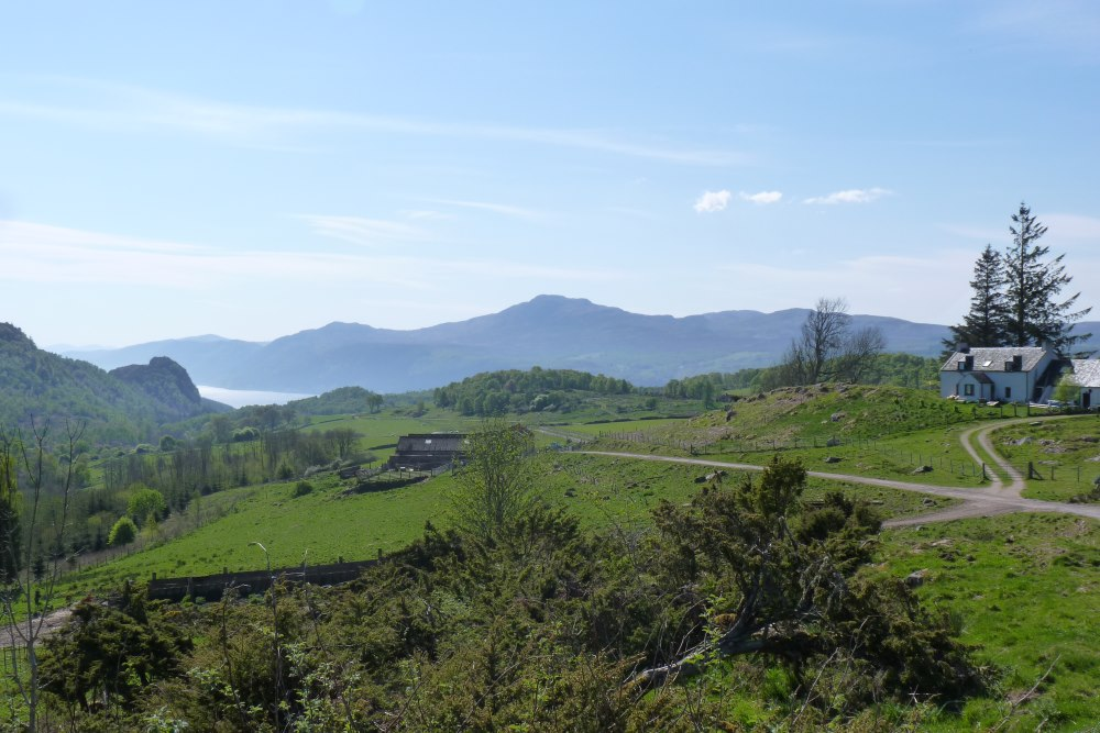 View of Loch Ness from the South Loch Ness Trail near Balchraggan