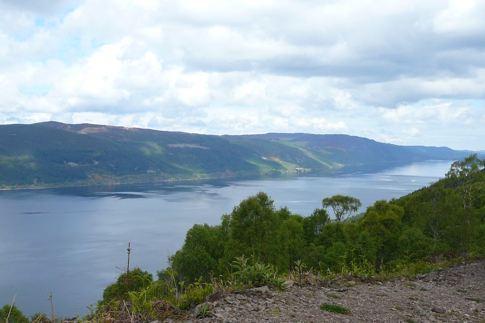 View of Loch Ness from the Fair Haired Lads Pass on the South Loch Ness Trail