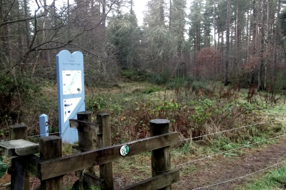 Official start of the South Loch Ness Trail at Torbreck