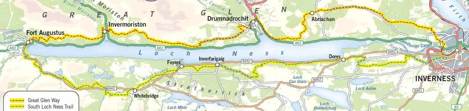 Loch Ness 360 Trail route map