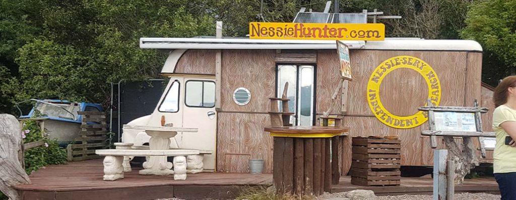The Nessie Hunter's van at Dores