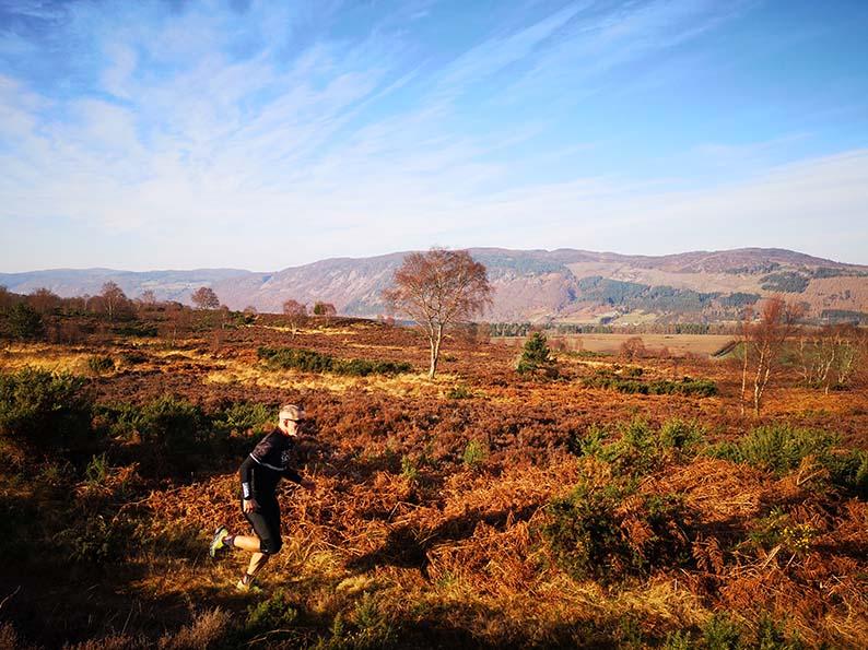 Running in the Scottish Highlands