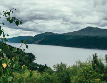 View of Loch Ness from path