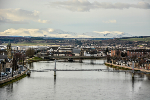 Inverness and the River Ness in winter