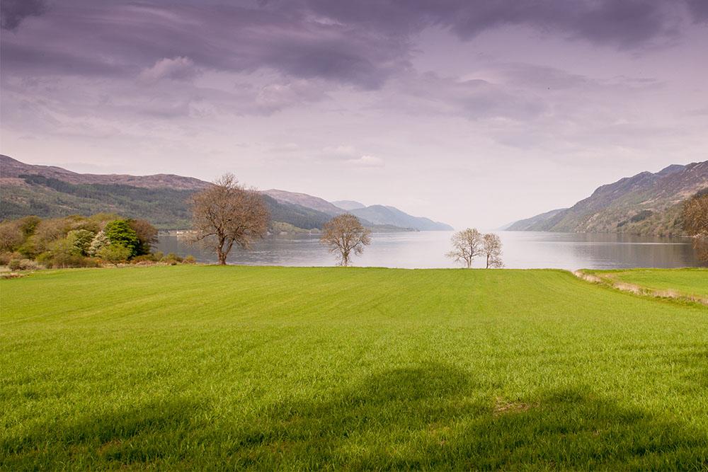 a view over loch ness near borlum bay