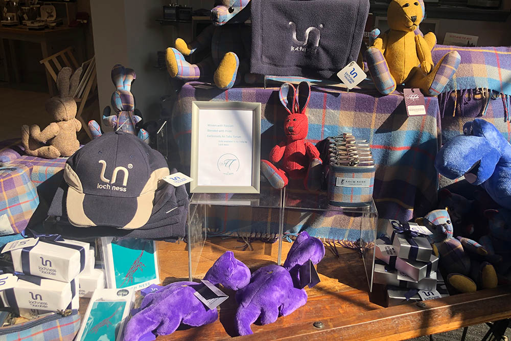 Some of the gifts at An Talla by Loch Ness