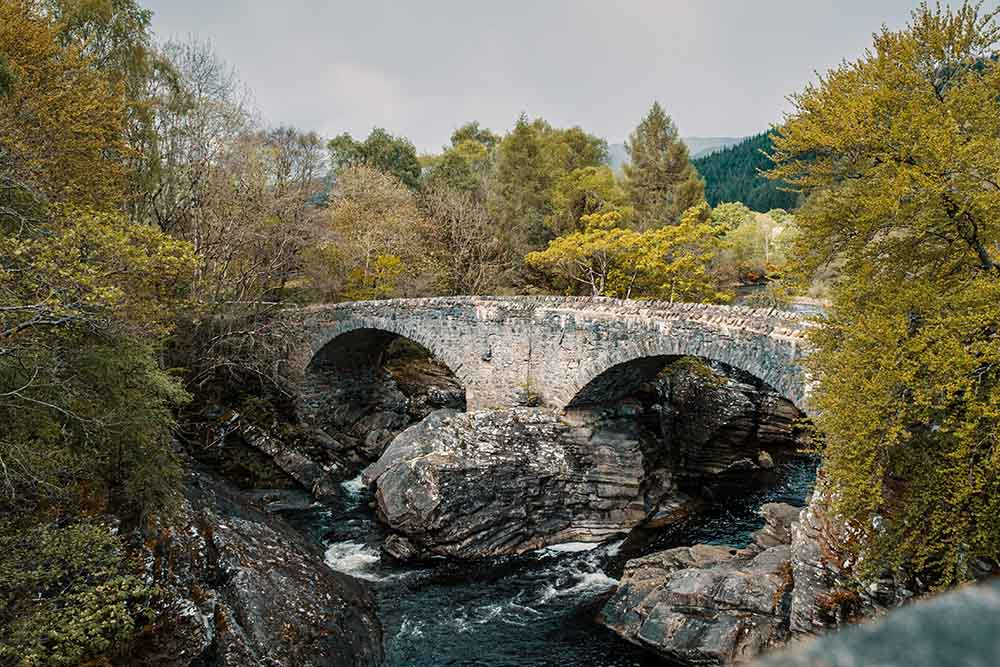 A view of Invermoriston Bridge